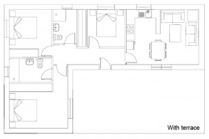 Cuprita 3 property terrace plans